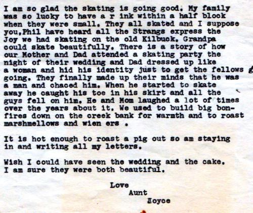 Ben's sister Joyce 1985