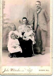 Grandpa & Grandma Strang, Grace, Amy and baby Ben